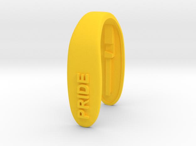 PRIDE #2 KEY FOB  in Yellow Processed Versatile Plastic