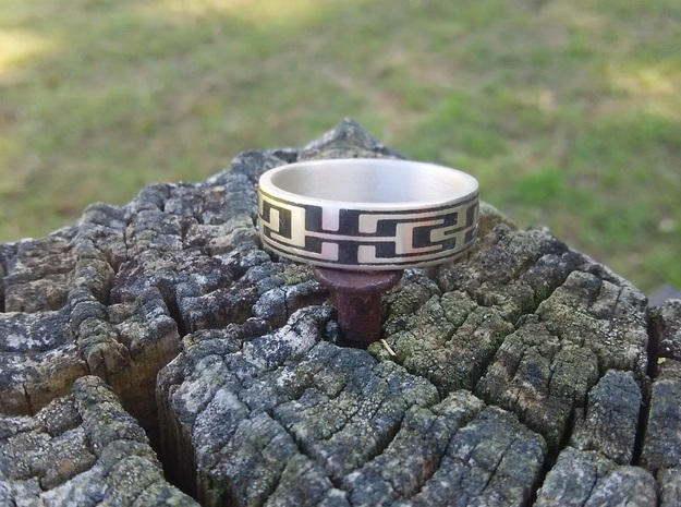 Polished Silver Maze Ring Size 8.25 in Polished Silver