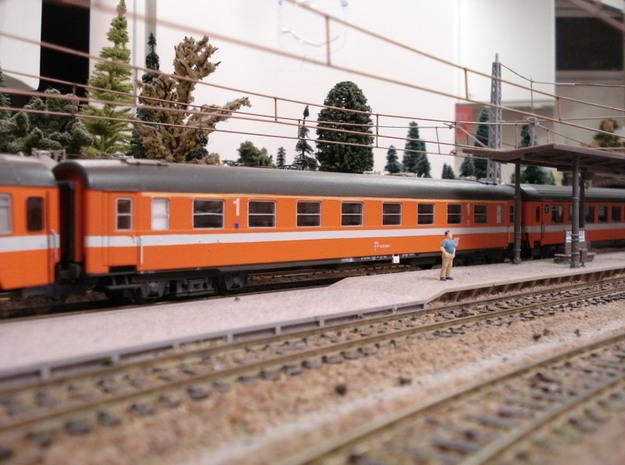 #09A OBB H0(1:87) 18-30 008 Wagenkasten in Frosted Ultra Detail