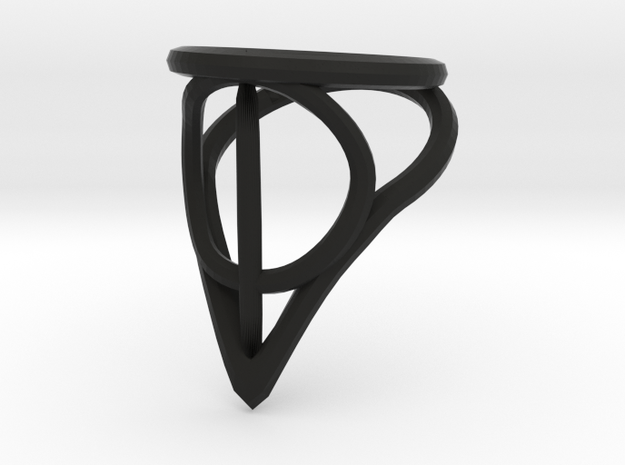Deathly Hallows Ring in Matte Black Steel: 7 / 54