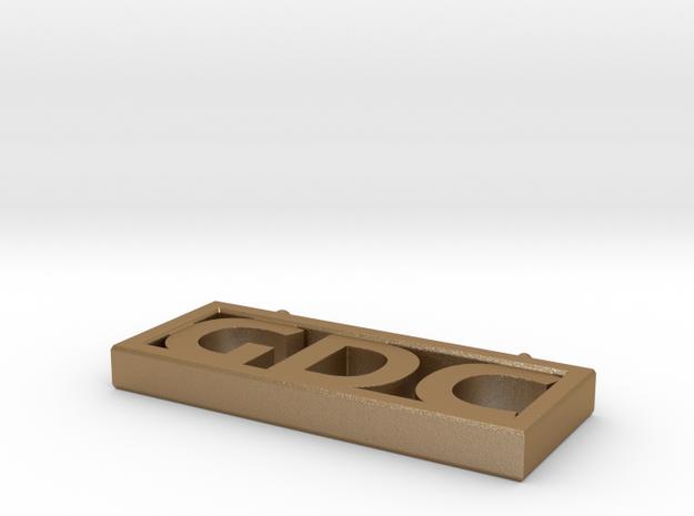 GDC Pendant in Matte Gold Steel