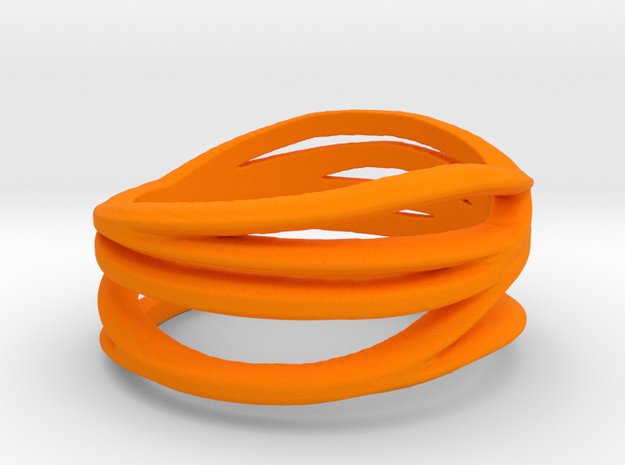 Benin voodoo ring - orange in Orange Strong & Flexible Polished: Medium