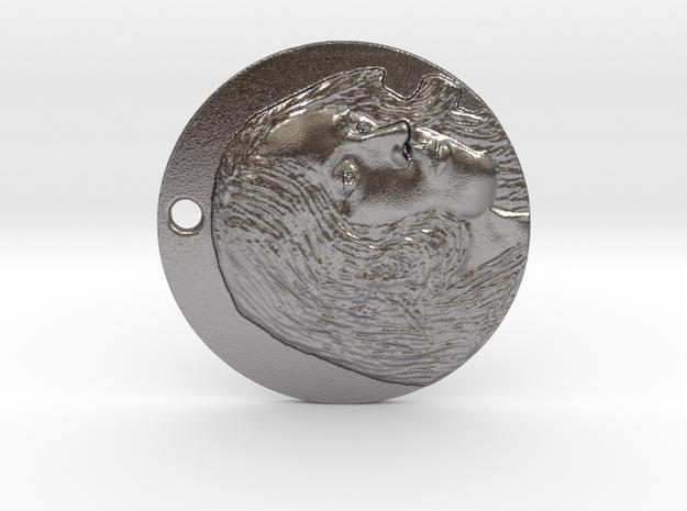 Medallion in Polished Nickel Steel
