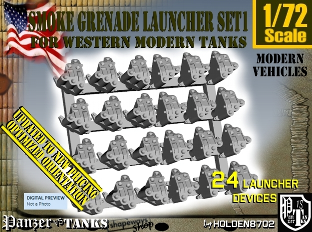 1-72 Smoke Grenade Tank Launcher Set1