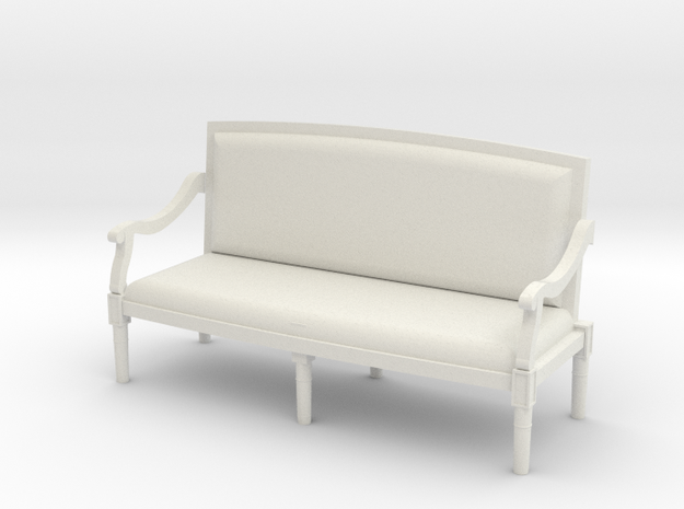 1:48 Louis XVI Sofa Settee with Curved Back