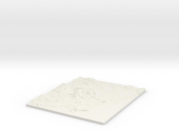 Cardiff W310 S166 E322 N180  in White Natural Versatile Plastic