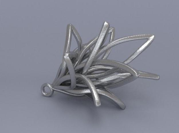 Spiral Flower with loop 3d printed Render 3
