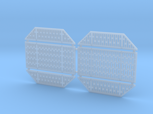 DeAgo Falcon Hold Floor Pit Grates in Smooth Fine Detail Plastic