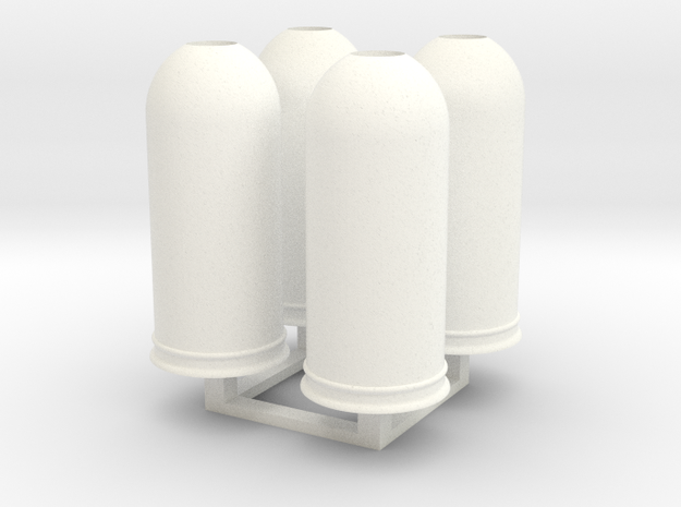 1/35 Trash Can set #2 MSP35-037 in White Processed Versatile Plastic
