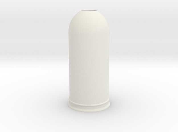 1-35 Trash Can #2 Round Single MSP35-037a in White Natural Versatile Plastic