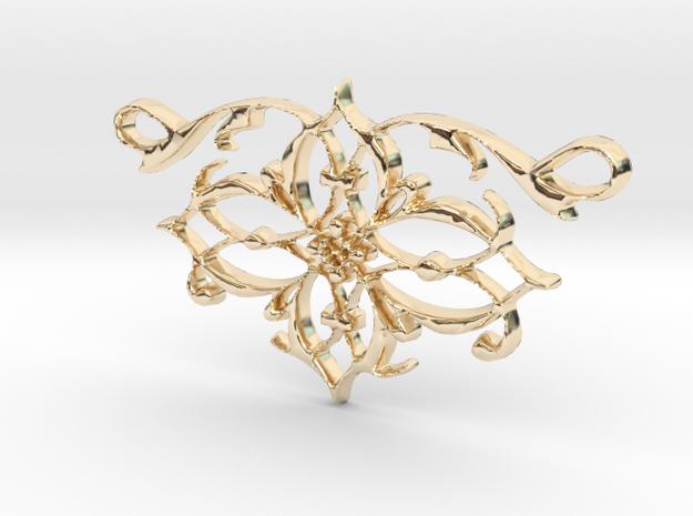 Elegant Vintage Classy Pendant Charm in 14k Gold Plated Brass