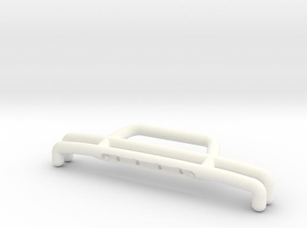 081009-01 KingCab Front Bumper in White Processed Versatile Plastic