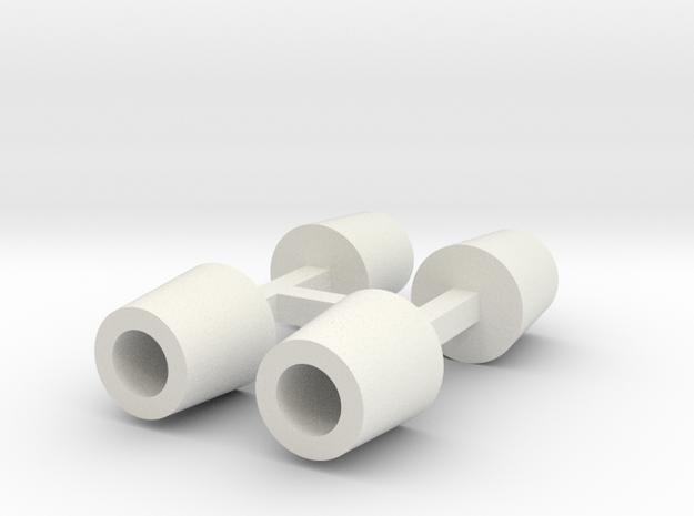 Betonmülleimer rund DDR 4er Set 1:120 in White Natural Versatile Plastic