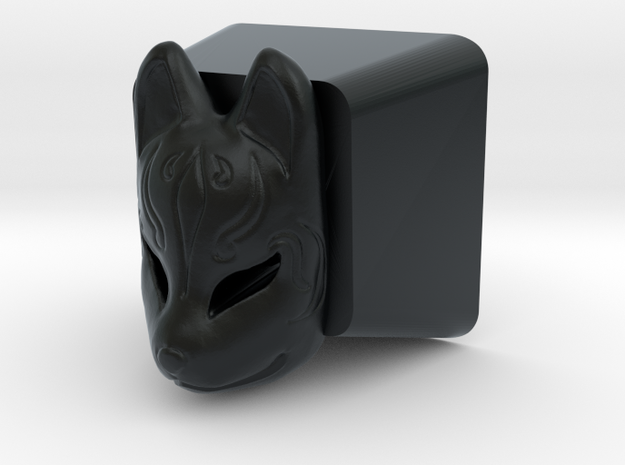 Kitsune Mask Cherry MX Keycap in Black Hi-Def Acrylate