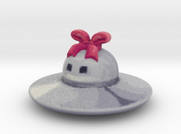 Cute Little UFO Figure in Full Color Sandstone