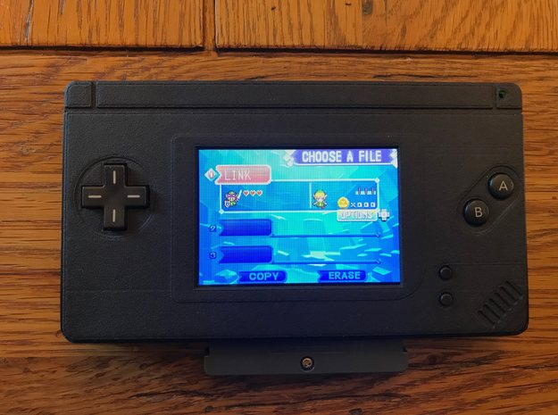 Gameboy Macro Faceplate (for DS Lite) - 2 Buttons in Black Natural Versatile Plastic