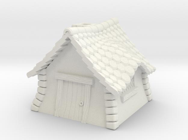 Quaint Cottage Cap in White Natural Versatile Plastic