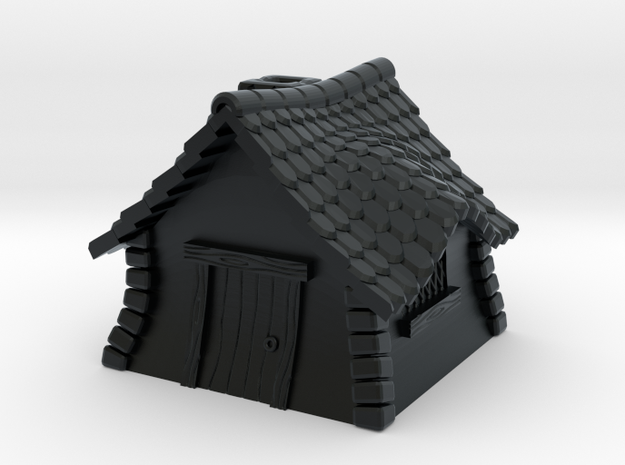 Quaint Cottage Cap in Black Hi-Def Acrylate