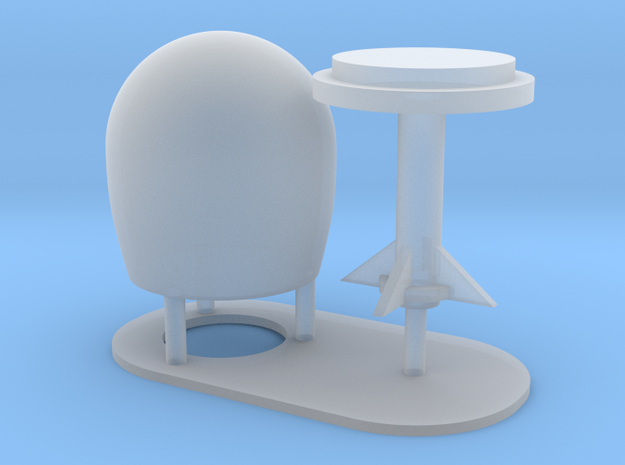 1:72 SatCom Dome Set 5 in Smooth Fine Detail Plastic