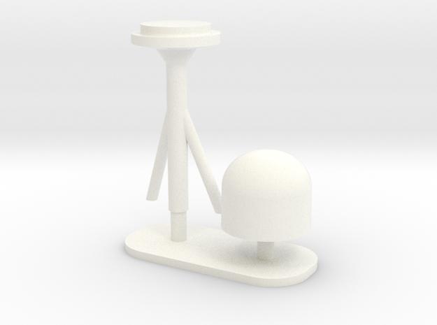 1:72 SatCom Dome Set 6 in White Processed Versatile Plastic
