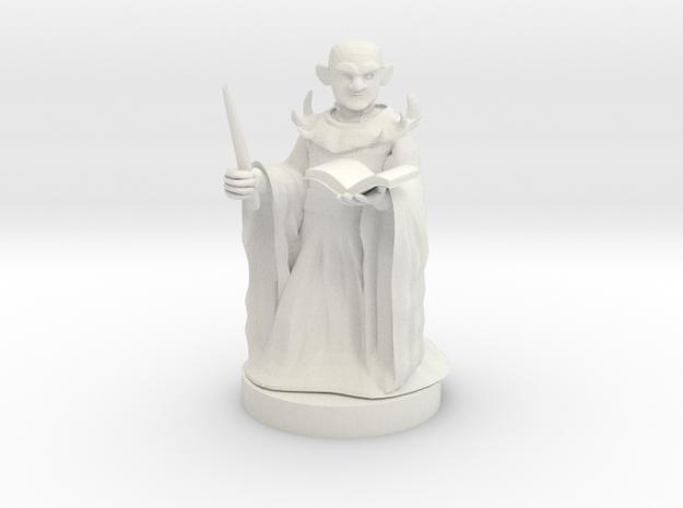 Gnome Warlock in White Natural Versatile Plastic