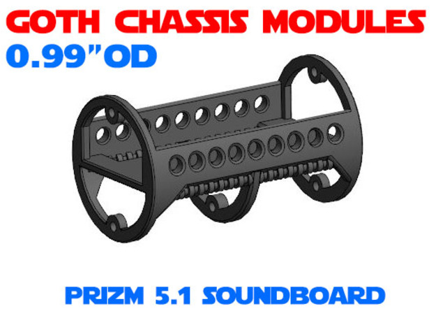 GCM099 - PRIZM 5.1 soundboard chassis in White Natural Versatile Plastic