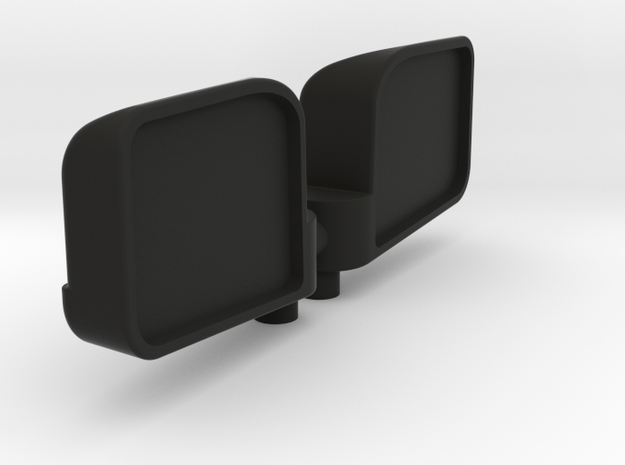 1:8 scale wing mirror for RC cars in Black Strong & Flexible