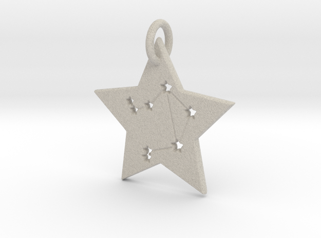 Libra Constellation Pendant in Natural Sandstone