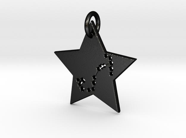 Scorpio Constellation Pendant in Matte Black Steel