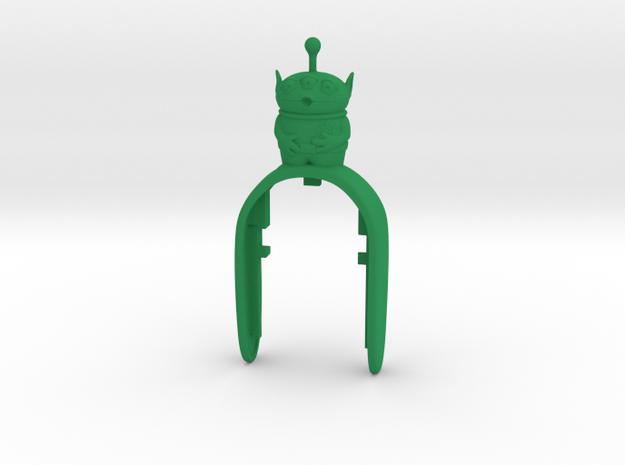 ALIEN 4  KEY FOB in Green Processed Versatile Plastic