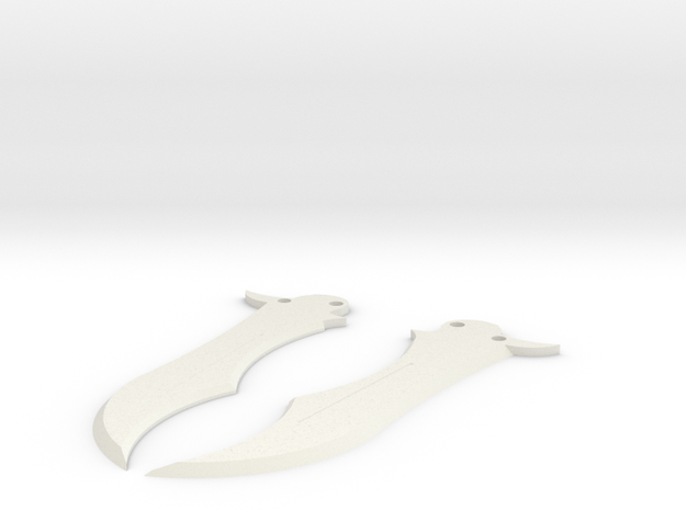 Butterfly Knife Blade in White Strong & Flexible