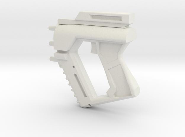 Mass Effect Predator Back in White Natural Versatile Plastic