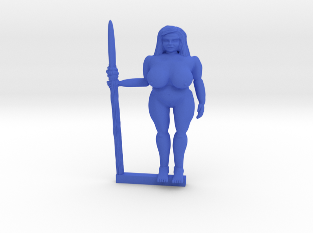 Gia of the Jungle NSFW in Blue Processed Versatile Plastic
