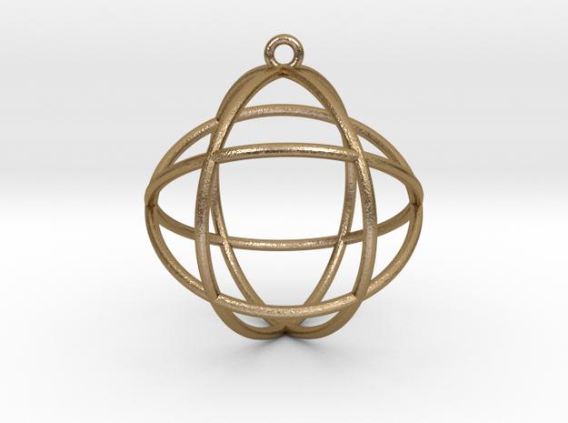 Genesa Crystal version 2 in Polished Gold Steel