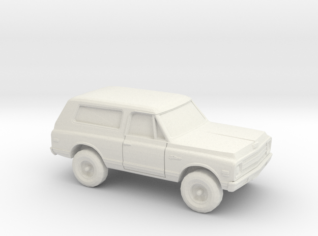 1/87 1967-70 Chevy Blazer in White Natural Versatile Plastic