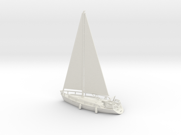 SailBoat_Ver02_Scale_N_Rev01 in White Strong & Flexible