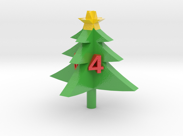 xmas d4 (tricolor) in Coated Full Color Sandstone