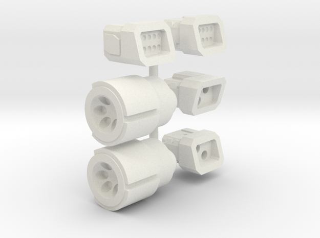 6mm Weapon Sprue C in White Strong & Flexible