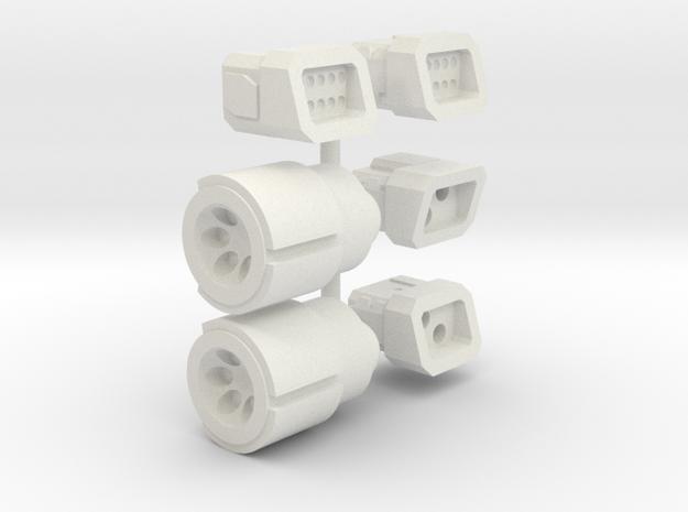 6mm Weapon Sprue C in White Natural Versatile Plastic