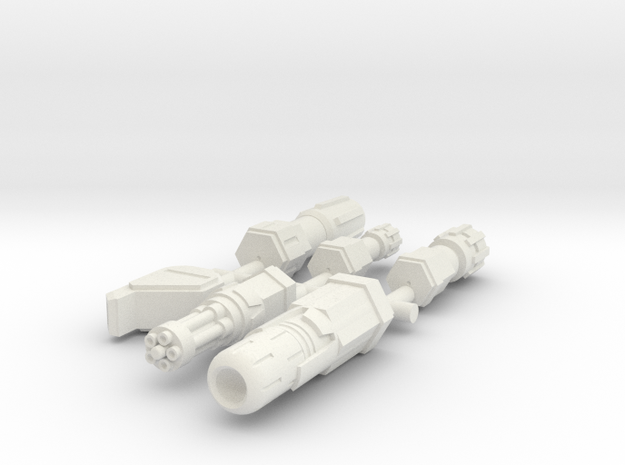 6mm Weapon Sprue B in White Strong & Flexible