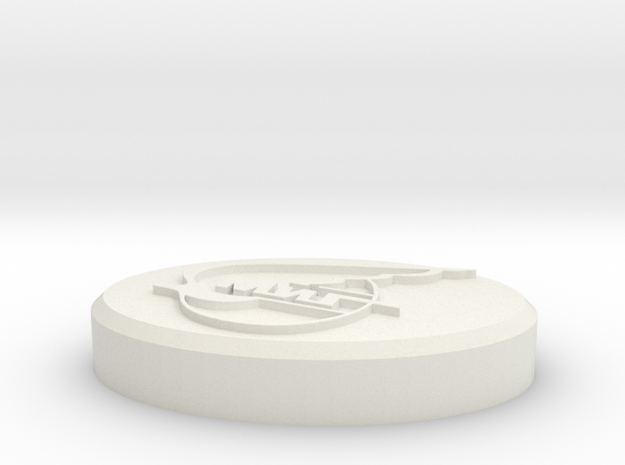 Mikoyan-Gurevich (MiG) Company Logo Base  in White Natural Versatile Plastic