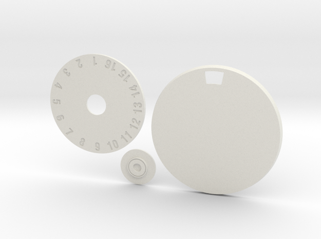 60mm Round Wound Tracking Base in White Natural Versatile Plastic