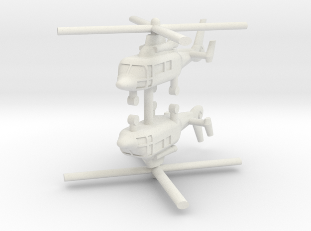 1/250 Eurocopter AS365 Dauphin (x2) in White Natural Versatile Plastic