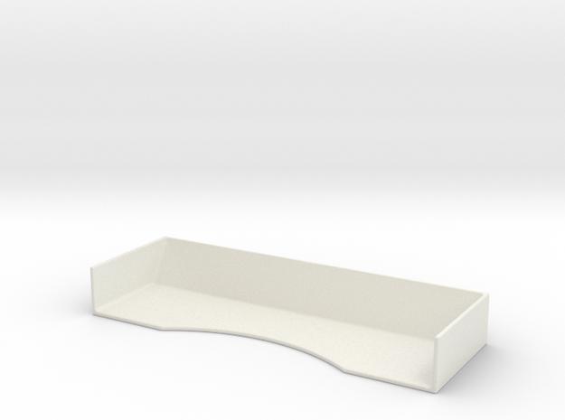 Mini-Z Universal Race Spoiler (Lightweight) in White Natural Versatile Plastic