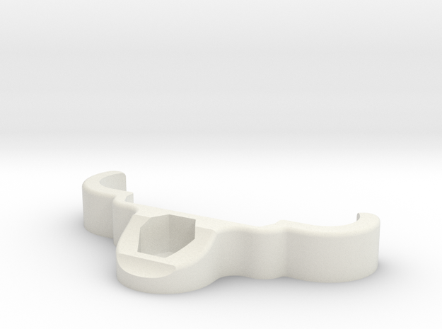YZ4 New Bumper - Nut Clamp ( Spare ) in White Natural Versatile Plastic