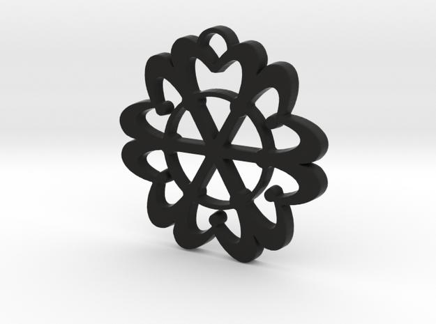 Exotic flower in Black Natural Versatile Plastic