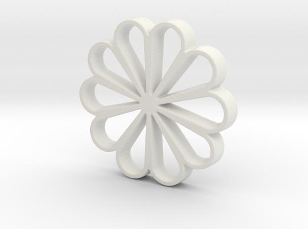 Beautiful flower in White Natural Versatile Plastic