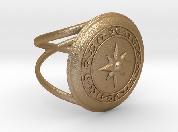 Athena's Shield  in Matte Gold Steel: 9.5 / 60.25