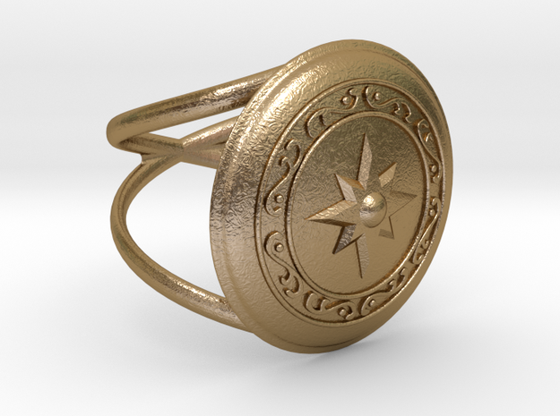 Athena's Shield  in Polished Gold Steel: 7.5 / 55.5