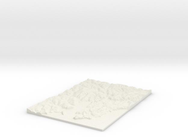 Falmouth W177 S30 E190 N48 Cornwall in White Natural Versatile Plastic